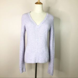 Calvin Klein l Pullover Sweater Lavender V-Neck S